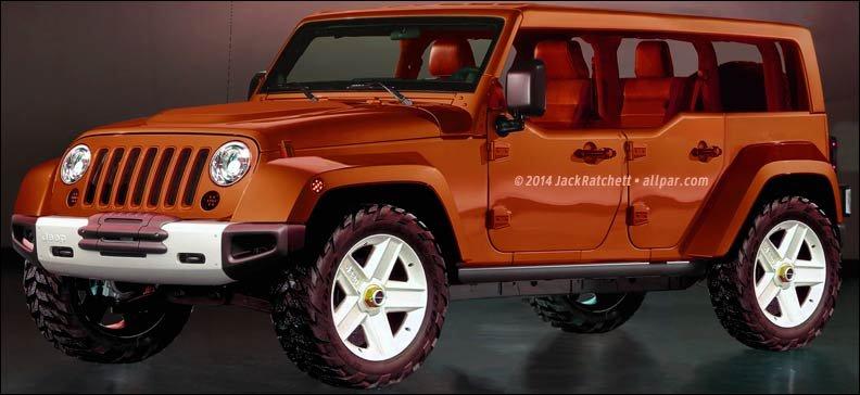 2018 Jeep Wrangler rendering