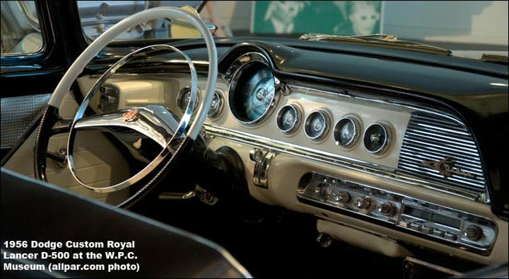 1956 Dodge Custom Royal Lancer D-500 interior