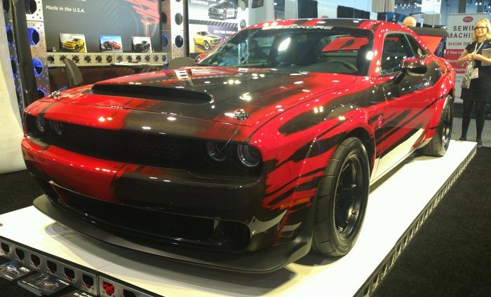This Conversion To The Complete Carbon Fiber Body Gives The 2018 Dodge  Challenger SRT Demon A Wicked Cool Look, But More Importantly, It Cuts  Unnecessary ...