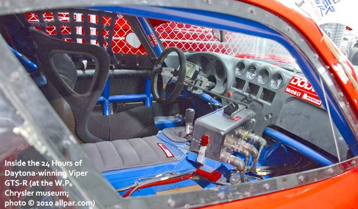24 Hours of LeMans at Daytona winning Viper interior