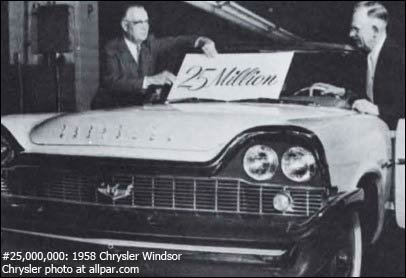 25 millionth Chrysler