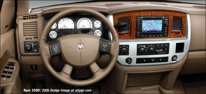 2006 Dodge Ram 2500 dashboard