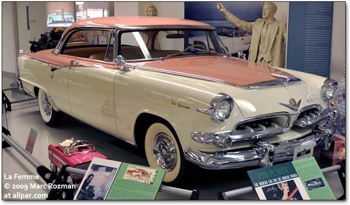 1955 Dodge La Femme on Cadillac Engine Scheme