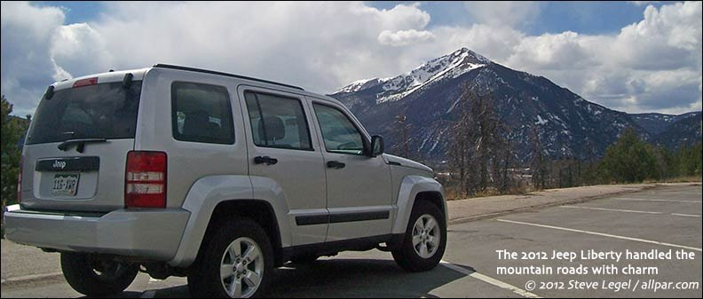 Jeep Liberty in the Rockies