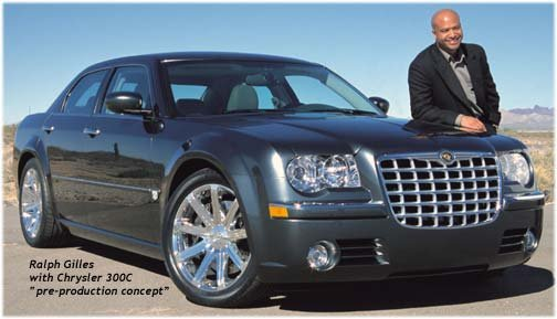 Designer Ralph Gilles with chrysler 300c