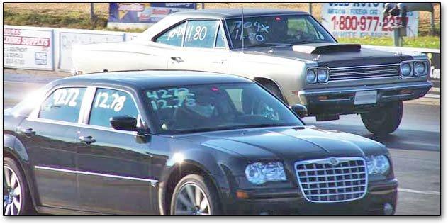 Plymouth Road Runner Vs Chrysler 300c Srt 8 At The Track