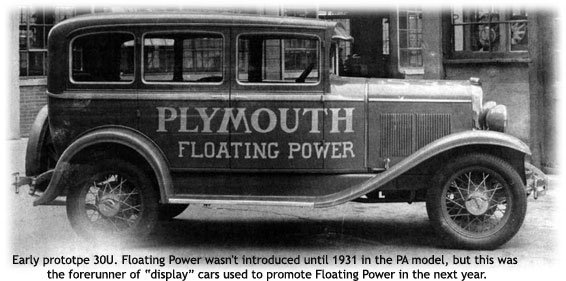 Plymouth Model 30U car from 1930
