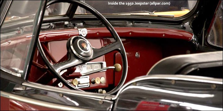1950 Willys Jeepster interior
