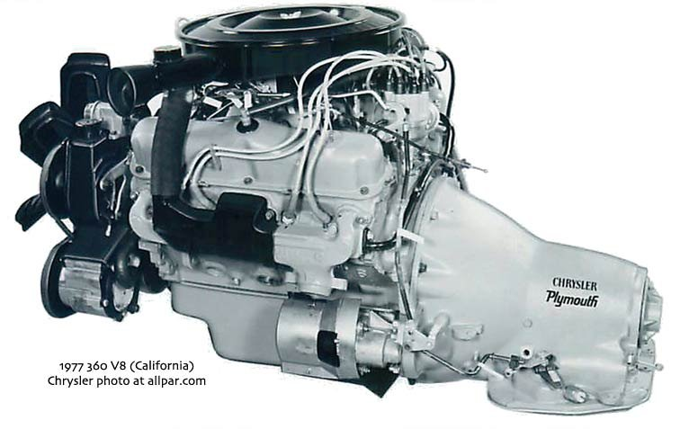 Chrysler 360 V8 engine