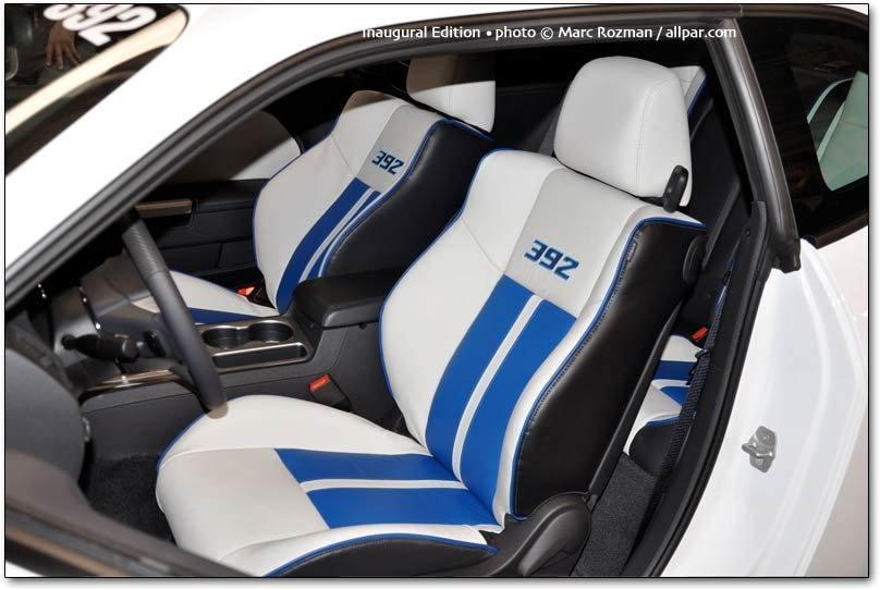 Dodge Challenger 392 Inaugural Edition seats