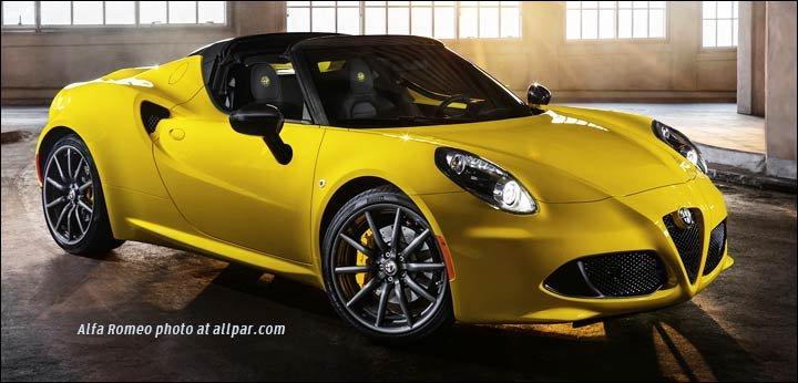 2015 Alfa Romeo 4c Spider Composite And Aluminum Convertible