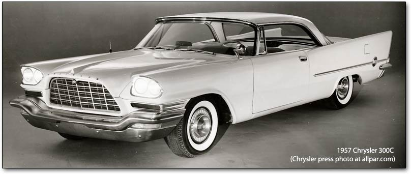 The 1957 Chrysler 300c Letter Cars