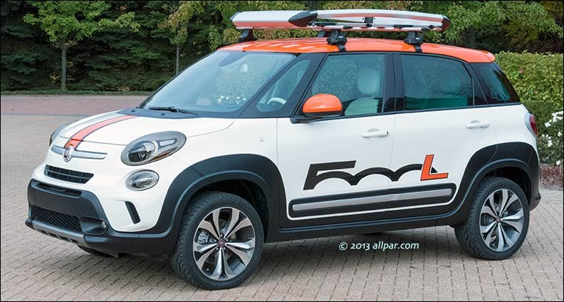 Fiat 500l Adventurer Chrysler 300s Mopar Concept Cars