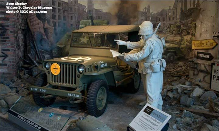 Jeep MB on display