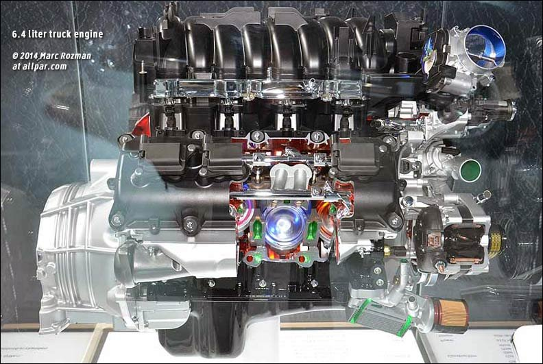 6.4 liter Hemi truck engines for Ram pickups and chassis cabs