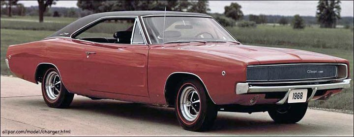 1968 dodge charger cars