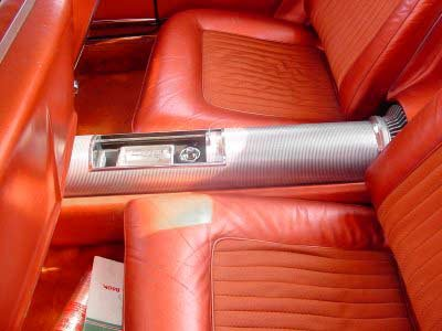 center console with turbine look