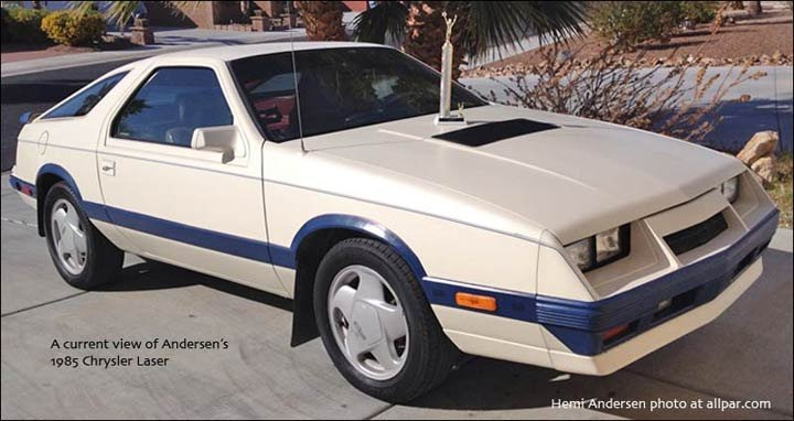 1985 Chrysler Laser Turbo II intercooled car setup
