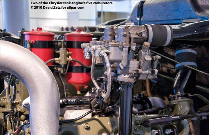 Tank Engine Detail Carburetors