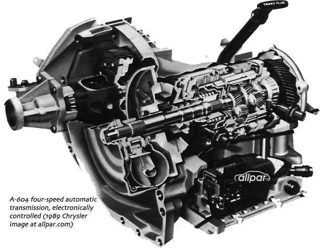 four-speed Chrysler automatic transmissions - development