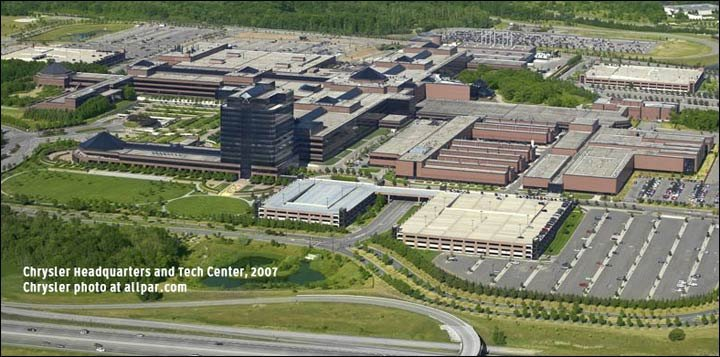 chrysler technical center (ctc): huge state-of-the-art headquarters