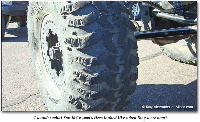 David Cerdra's tires