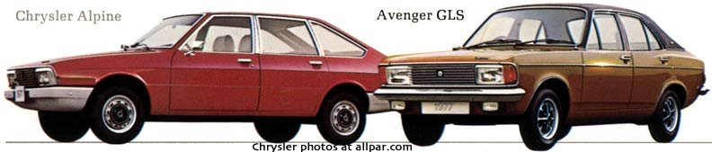 chrysler alpine and chrysler avenger
