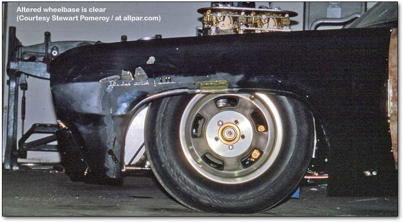 altered wheelbase drag car