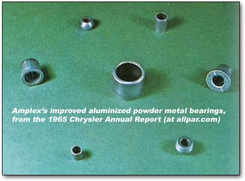 aluminized bearings from Amplex