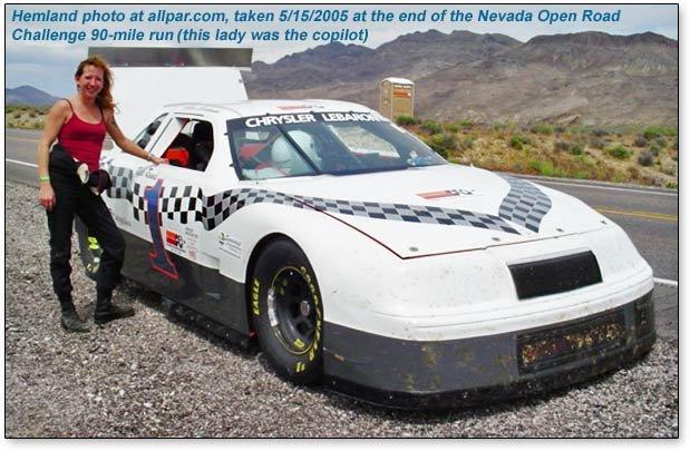 Newark Jeep ARCA Chrysler LeBaron 355 V8 racing car - 1989