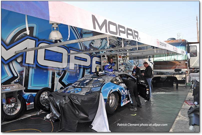 NAPA DOdge Avenger drag car