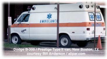 Dodge B300 ambulance