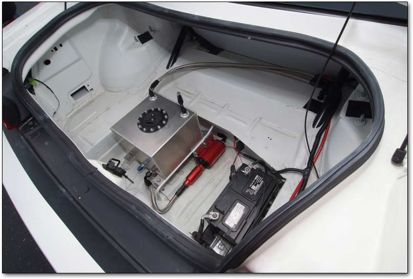 battery and fuel cell in trunk