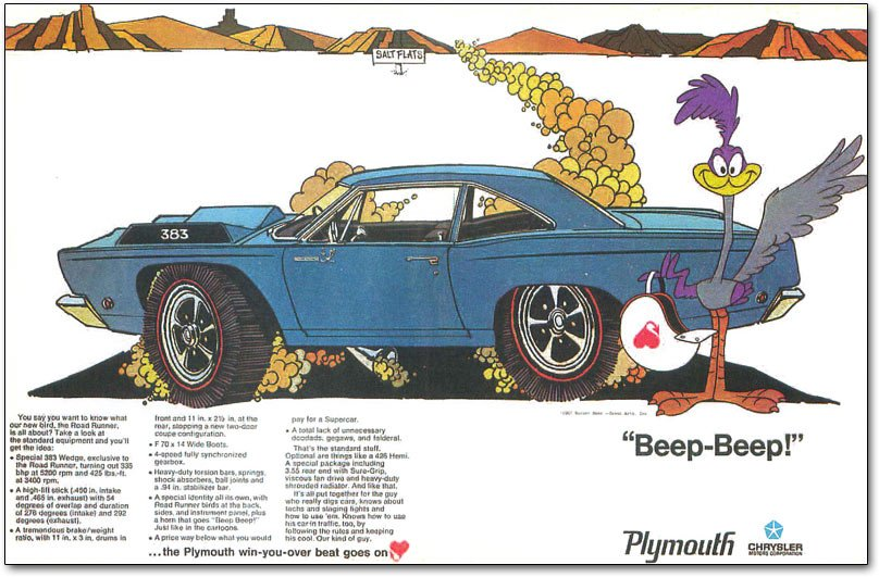 Jack smith and the plymouth road runner beep beep freerunsca Images