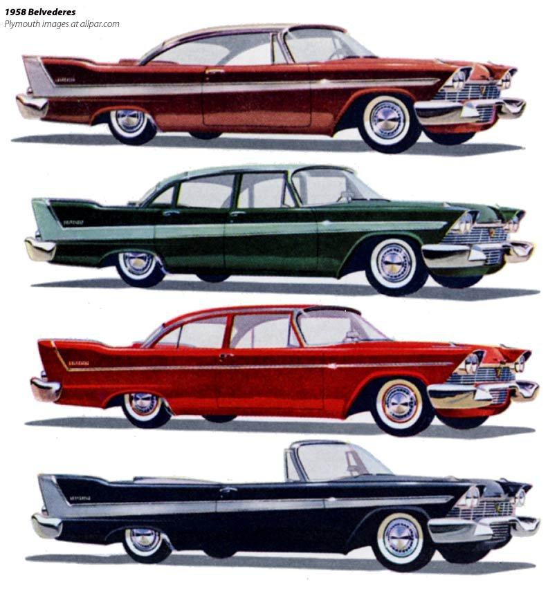 Plymouth cars 1958: more of the same