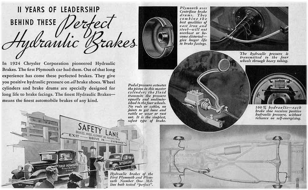 Plymouth hydraulic brakes