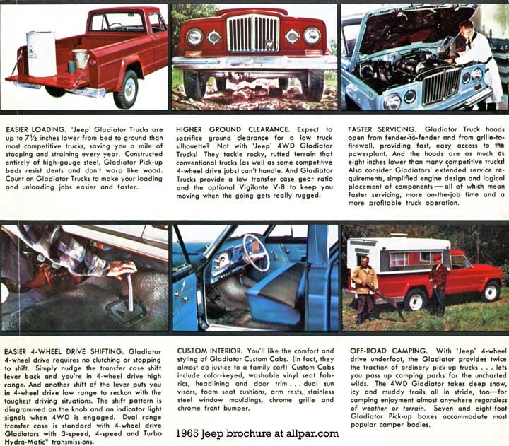 Jeep For 1965 Gladiator Universal Wagoneer Cj