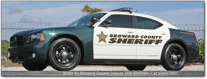 Broward County police cars