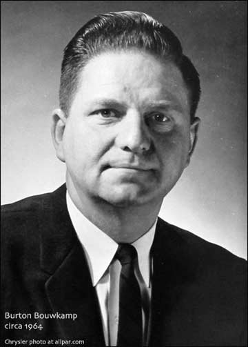Chrysler product planner Burton Bouwkamp in 1964