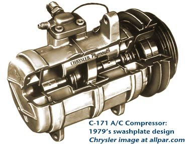 c-171 air conditioner compressor (swashplate)
