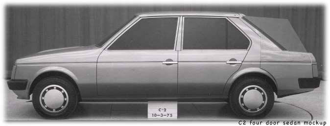 four door mockup of Chrysler Horizon