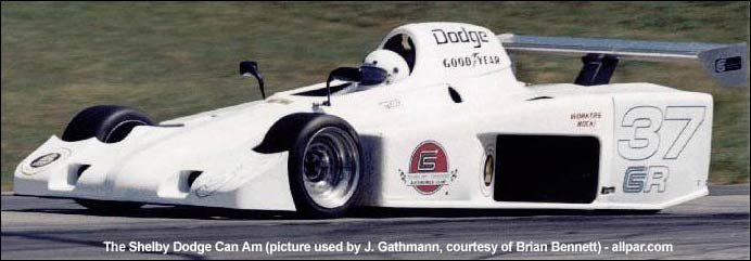 The Shelby Dodge Can Am Race Car With The Shelby Race Version Of