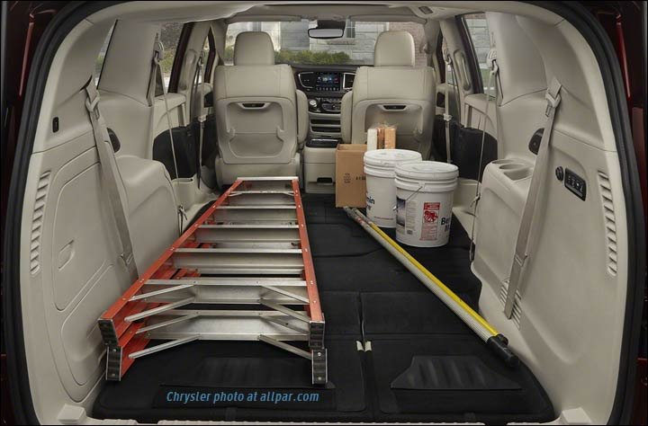 Chrysler town and country cargo dimensions