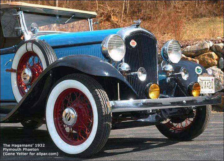 1931 1932 BRAKE HOSE SET Plymouth PA