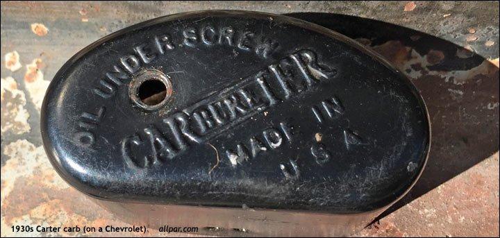 Friends of Chrysler: Carter Carburetor