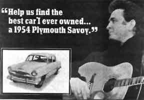 Johnny Cash Plymouth contest ad