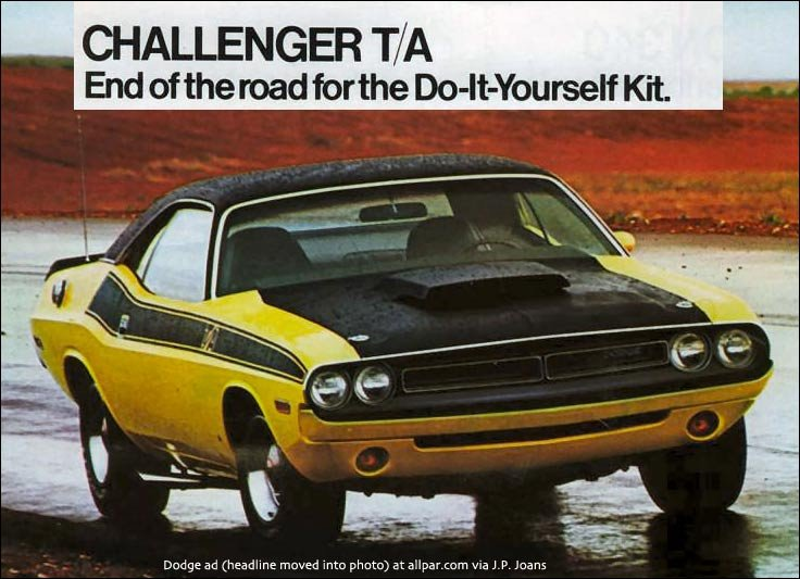 1970 1974 Dodge Challenger Specials R T Deputy T A And