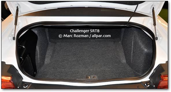 2011 Dodge Challenger trunk space pix