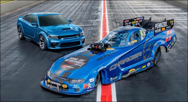 Charger Funny Car and Hellcat