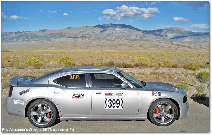 Charger SRT8 outside of Ely, Nevada